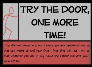 Try the door